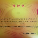 Dasifu Official Chancellor of Chen Village International Taichi Academy